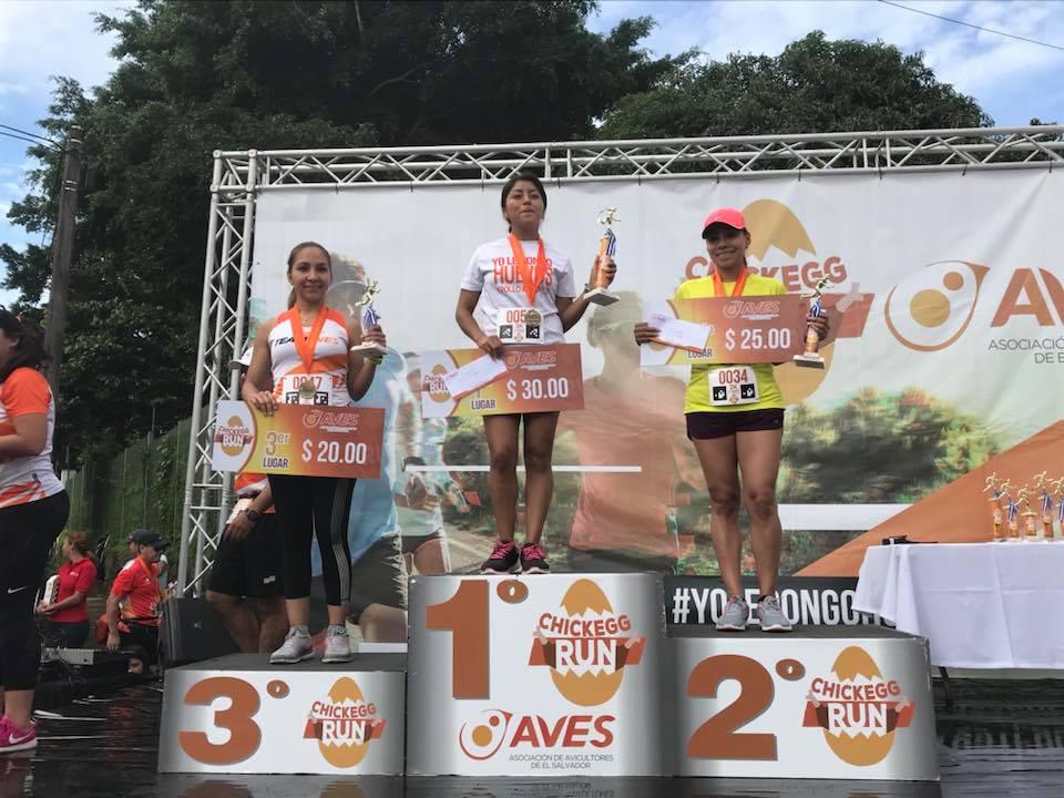 Ganadoras 3 Kms femeninos