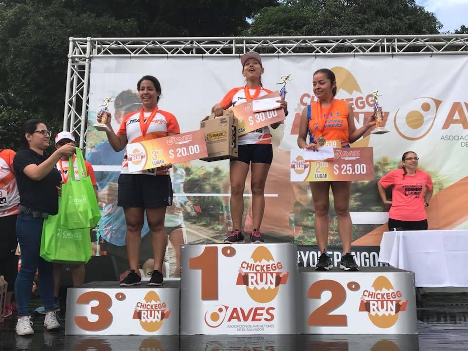 Ganadoras 5kms femenino