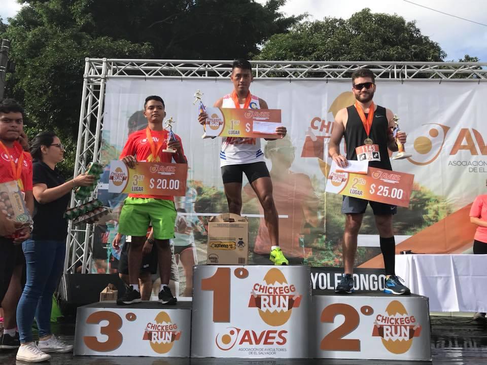 Ganadores 10 Kms masculinos