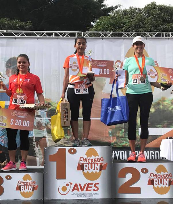 Ganadoras 10 Kms femeninos