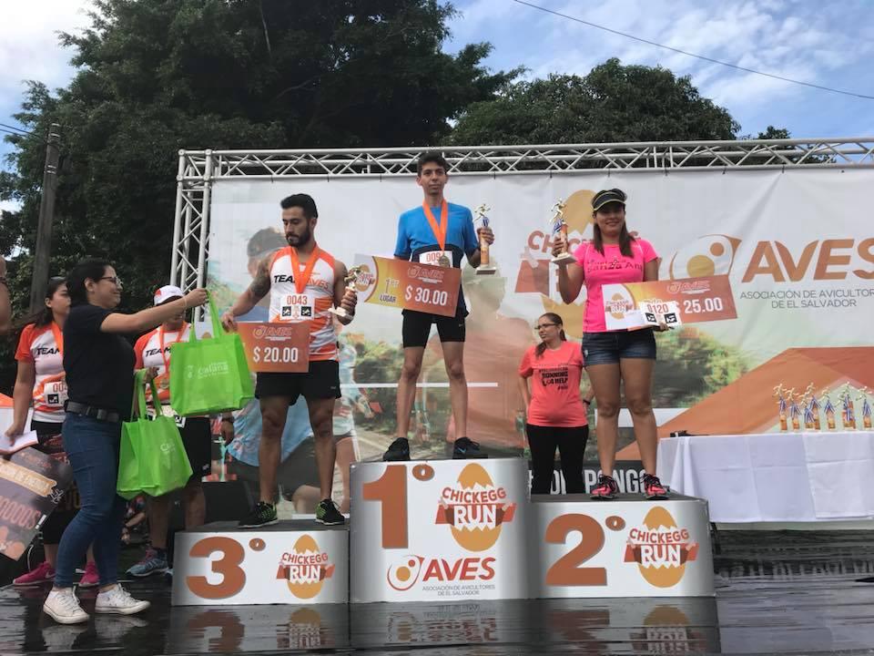 Ganadores 3 kms masculino