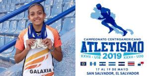 Daniela Aragón en el campeonato Centroamericano de Atletismo 2019