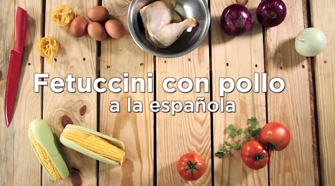 Fetuccini con Pollo a la española