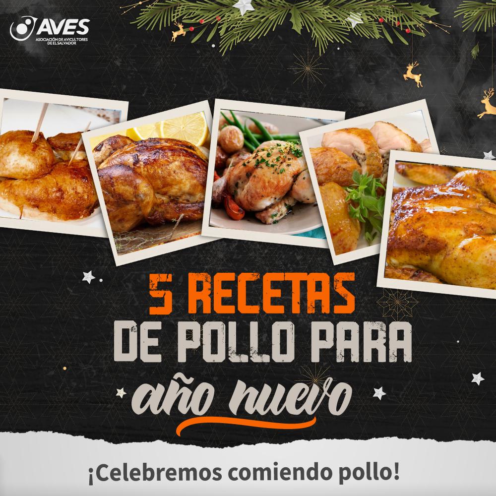 5 recetas de pollo para año nuevo
